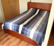 Striped Alpaca Bed Blanket for sale by Purely Alpaca