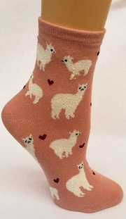 Alpaca Love Ankle Height Cotton Socks for sale by Purely Alpaca