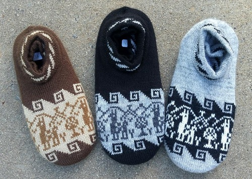 Alpaca Slippers with Padded Sole for sale by Purely Alpaca