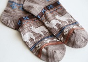 Alpacas Ankle Height Cotton Socks for sale by Purely Alpaca