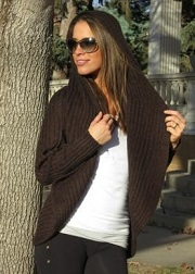 Alpaca Blend Long Open Sweater with Hood for sale by Purely Alpaca