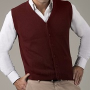 Mens Alpaca Button Vest for sale by Purely Alpaca